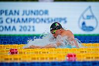 CERASUOLO Simone ITA<br /> swimming 100m Breaststroke Men, nuoto<br /> LEN European Junior Swimming Championships 2021<br /> Rome 2177<br /> Stadio Del Nuoto Foro Italico <br /> Photo Andrea Masini / Deepbluemedia / Insidefoto