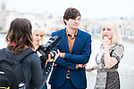 """Actress Brea Grant, the director of the film Jackson Stewart and Barbara Crampton recording a making off during the presentation of the film """"Beyond the Gate"""" at Festival de Cine Fantastico de Sitges in Barcelona. October 08, Spain. 2016. (ALTERPHOTOS/BorjaB.Hojas)"""