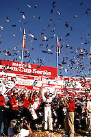 Dale Earnhardt celegrates his Million Dollar win in  the Winston 500 at Talladega, AL in October 2000. (Photo by Brian Cleary/www.bcpix.com)