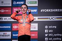 Elite Women Individual Time Trial podium:<br /> 3rd > Annemiek van Vleuten (NED/Mitchelton-Scott)<br /> <br /> 2019 Road World Championships Yorkshire (GBR)<br /> <br /> ©kramon