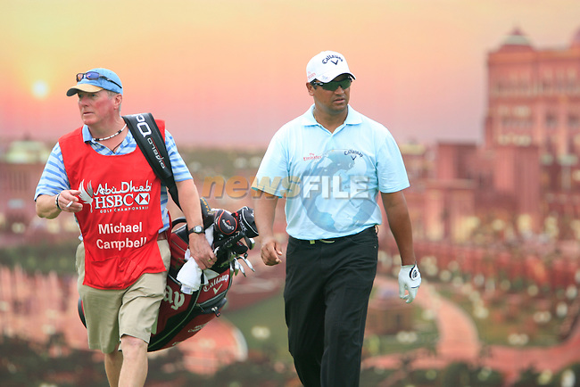 Michael Campbell walks off the 12th teebox during Thusday Day 1 of the Abu Dhabi HSBC Golf Championship, 20th January 2011..(Picture Eoin Clarke/www.golffile.ie)