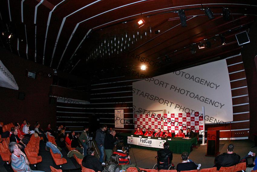 Fed Cup Serbia vs Canada, World group II, first round, Novi Sad, Serbia, SPENS Sports Center, Sunday, February 06, 2011. (photo: Srdjan Stevanovic)(credit image & photo: Pedja Milosavljevic / +381 64 1260 959 / thepedja@gmail.com )