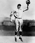 Pittsburgh PA:  View of Pie Traynor posing for a photo at Forbes Field.<br /> He joined the Pirates in 1920 and was part of some of the best Pirate teams ever.  He also managed the team from 1934-1939.  After his playing and managing days, he lived in Pittsburgh and was a fixture at Forbes Field and also did many television commercials.