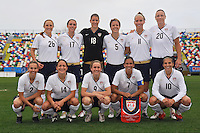 Starting lineup photo of the US Women's National Team game in Olhao, Portugal on February 26, 2010 during the 2010 Algarve Cup.