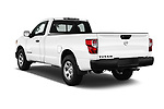 Car pictures of rear three quarter view of 2017 Nissan Titan S-Single 2 Door Pick-up Angular Rear