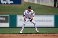 Detroit Tigers shortstop Gage Workman (27) during a Florida Instructional League game against the Pittsburgh Pirates on October 16, 2020 at Joker Marchant Stadium in Lakeland, Florida.  (Mike Janes/Four Seam Images)