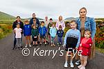 Residents in Dún Chaoin are leading the campaign by Comharchumann Dhún Chaoin for a new playground, following a refusal by the OPW to make a quarter acre site available on lease. <br /> Front rightl to r: Louise Thompson, Siún and Ellie Ní Fhlatharta.<br /> Back l to r: Meidhbhín Nic An tSithigh, Caroline Nic Eoin, Darragh Mac An tSithigh, Fionn Ó'hAiniféin, Sonny Mac An tSithigh, Sean and Brendán Ó'hAiniféin, John Kennedy, Sean O'Cearna, Fiadh Ní Chearna, Tommy Og O'Cearna and Sinead Uí Chearna