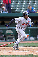 April 5, 2007:  Carlos Santana of the Great Lakes Loons at Coveleski Stadium in South Bend, IN.  Photo by:  Chris Proctor/Four Seam Images