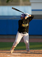 Montverde Academy Eagles Victor Martinez (14) bats during a game against the IMG Academy Ascenders on April 8, 2021 at IMG Academy in Bradenton, Florida.  (Mike Janes/Four Seam Images)
