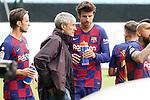 FC Barcelona's coach Quique Setien with his players during La Liga match. June 27,2020. (ALTERPHOTOS/Acero)