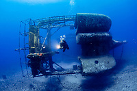 The Wreck of the Charlie Brown, Statia (St. Eustatius) Caribbean. Model: Lisa Hansen.