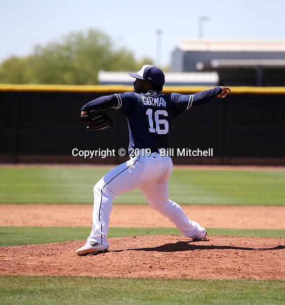 Jonathan Guzman - San Diego Padres 2019 extended spring training (Bill Mitchell)
