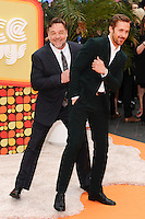 """Russell Crowe and Ryan Gosling<br /> arrives for the premiere of """"The Nice Guys"""" at the Odeon Leicester Square, London.<br /> <br /> <br /> ©Ash Knotek  D3120  19/05/2016"""