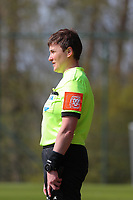 Assistant referee Elle De Vries pictured during a female soccer game between Standard Femina de Liege and Club Brugge YLA on the 2nd matchday in play off 1 of the 2020 - 2021 season of Belgian Scooore Womens Super League , saturday 17 th of April 2021  in Angleur , Belgium . PHOTO SPORTPIX.BE | SPP | SEVIL OKTEM
