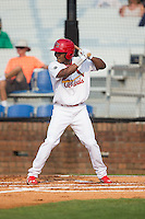 Magneuris Sierra (37) of the Johnson City Cardinals at bat against the Bristol Pirates at Howard Johnson Field at Cardinal Park on July 6, 2015 in Johnson City, Tennessee.  The Pirates defeated the Cardinals 2-0 in game one of a double-header. (Brian Westerholt/Four Seam Images)