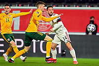 24th March 2021; Leuven, Belgium;  Dries Mertens of Belgium is beaten by Mepham of Wales during the World Cup Qatar 2022 Qualifiers Match between Belgium and Wales on March 24, 2021 in Leuven, Belgium