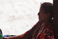 Guatemala, Chichicastenango,  girl with traditional dress Maya