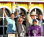 May 17, 2014: California Chrome with Victor Espinoza wins the Grade I Preakness Stakes, for 3-year olds, going1 3/16 mile, at Pimlico Racetrack. Trainer: Art Sherman. Owner: Steven Coburn & Perry Martin . Sue Kawczynski/ESW/CSM