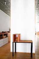 black side table
