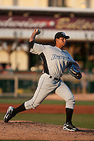 April 12th 2010: Henderson Alvarez  of the Dunedin Blue Jays Florida State League High-A affiliate of the Toronto Blue Jays  in a game against the Daytona Cubs, Florida State League High-A affiliate of the Chicago Cubs at Jackie Robinson Ballpark in Daytona Beach, FL (Photo By Scott Jontes/Four Seam Images)