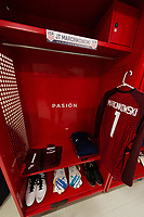 ZAPOPAN, MEXICO - MARCH 21: Jersey of James Marcinkowski #1 of the United States before a game between Dominican Republic and USMNT U-23 at Estadio Akron on March 21, 2021 in Zapopan, Mexico.