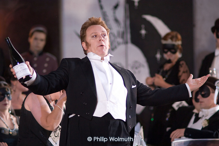 Peter Coleman-Wright in a performance of Arabella, by Richard Strauss, at Garsington Manor, Oxfordshire.