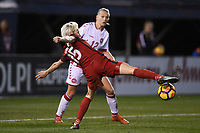 San Diego, CA - Sunday January 21, 2018: Megan Rapinoe prior to an international friendly between the women's national teams of the United States (USA) and Denmark (DEN) at SDCCU Stadium.
