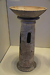 Israel, Jerusalem, incense stand from Shiloh, 17th-16th century BC, on display at the Israel Museum