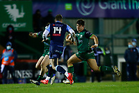 20th February 2021; Galway Sportsgrounds, Galway, Connacht, Ireland; Guinness Pro 14 Rugby, Connacht versus Cardiff Blues; Dave Heffernan (Connacht) looks for a way past Owen Lane (Cardiff Blues)