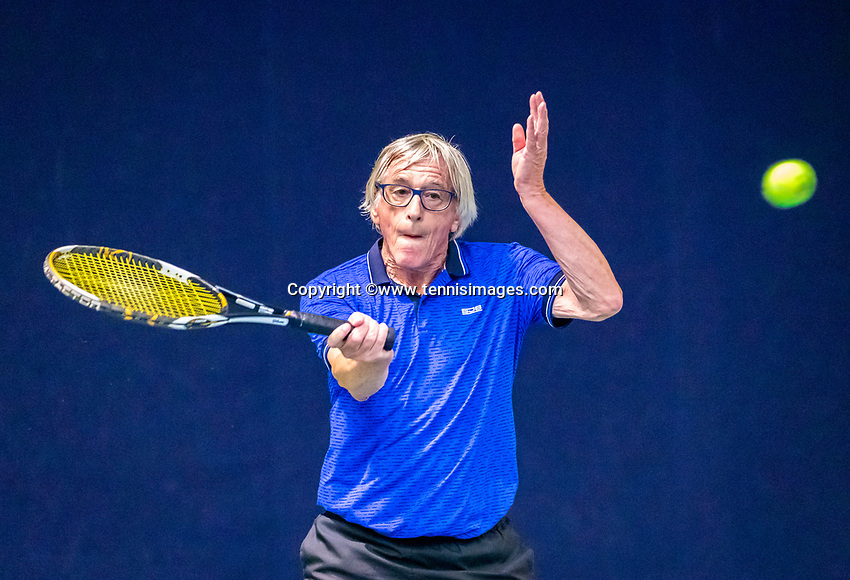 Hilversum, The Netherlands,  August 17, 2021,  Tulip Tennis Center, NKS, National Senior Tennis Championships, Men's 65+ Willemjan Guthschmidt (NED)   <br /> Photo: Tennisimages/Henk Koster