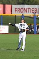 Galli Cribbs (14) of the Hillsboro Hops throws before a game against the Salem-Keizer Volcanoes at Ron Tonkin Field on July 27, 2015 in Hillsboro, Oregon. Hillsboro defeated Salem-Keizer, 9-2. (Larry Goren/Four Seam Images)