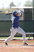 Jhonny Gomez of the Texas Rangers  plays in a minor league spring training game against the San Diego Padres at the Rangers complex on March 26, 2011  in Surprise, Arizona. .Photo by:  Bill Mitchell/Four Seam Images.