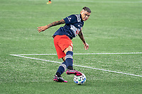 FOXBOROUGH, UNITED STATES - AUGUST 20: Gustavo Bou #7 of New England Revolution during a game between Philadelphia Union and New England Revolution at Gilette on August 20, 2020 in Foxborough, Massachusetts.