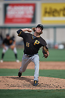 Pittsburgh Pirates pitcher Braxton Ashcraft (55) during a Florida Instructional League game against the Detroit Tigers on October 16, 2020 at Joker Marchant Stadium in Lakeland, Florida.  (Mike Janes/Four Seam Images)