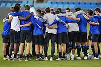 SAN JOSE, CA - NOVEMBER 4: San Jose Earthquakes huddle before a game between Los Angeles FC and San Jose Earthquakes at Earthquakes Stadium on November 4, 2020 in San Jose, California.
