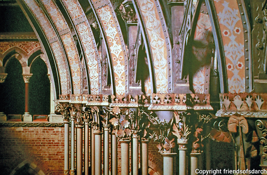 Oxford University History Museum. Vaulted columns. Oxford, England. Gothic Revival.