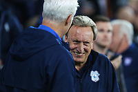 Ipswich Town manager Mick McCarthy talks with Cardiff City manager Neil Warnock prior to kick off of the Sky Bet Championship match between Cardiff City and Ipswich Town at The Cardiff City Stadium, Cardiff, Wales, UK. Tuesday 31 October 2017
