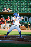 Matt Beaty (35) of the Ogden Raptors at bat against the Idaho Falls Chukars in Pioneer League action at Lindquist Field on June 23, 2015 in Ogden, Utah. Idaho Falls beat the Raptors 9-6.(Stephen Smith/Four Seam Images)