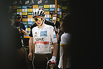 Tadej Pogacar (SLO) UAE Team Emirates retains the young riders White Jersey at the end of Stage 6 of the 2021 Tour de France, running 160.6km from Tours to Chateauroux, France. 1st July 2021.  <br /> Picture: A.S.O./Pauline Ballet | Cyclefile<br /> <br /> All photos usage must carry mandatory copyright credit (© Cyclefile | A.S.O./Pauline Ballet)