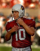 Nov. 6, 2005; Tempe, AZ, USA; Punter (10) Scott Player of the Arizona Cardinals against the Seattle Seahawks at Sun Devil Stadium. Mandatory Credit: Mark J. Rebilas