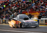 Sep 1, 2017; Clermont, IN, USA; NHRA funny car driver Del Worsham during qualifying for the US Nationals at Lucas Oil Raceway. Mandatory Credit: Mark J. Rebilas-USA TODAY Sports