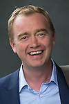"""© Joel Goodman - 07973 332324 . 09/06/2016 . Manchester , UK . Liberal Democrat leader TIM FARRON arrives to campaign for Remain , at an """" EU Tunnel """" display , at the People's History Museum in Manchester . Photo credit : Joel Goodman"""