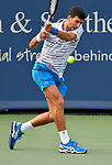 August 17,2019:   Novak Djokovic (SRB) loses to Daniil Medvedev (RUS) 3-6, 6-3, at the Western & Southern Open being played at Lindner Family Tennis Center in Mason, Ohio.  ©Leslie Billman/Tennisclix/CSM