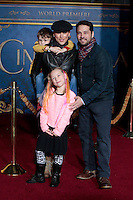 "LOS ANGELES - MAR 1:  Jason Priestley, wife Naomi Lowde-Priestley, Dashiell Priestley, Ava Priestley at the ""Cinderella"" World Premiere at the El Capitan Theater on March 1, 2015 in Los Angeles, CA"