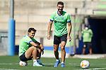 Getafe CF's Enes Unal and Juan Antonio Iglesias during training session. August 6, 2021.(ALTERPHOTOS/Acero)