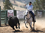 Jesus Alledo competes in the ranch horse class slack event at the Minden Ranch Rodeo on Saturday, July 23, 2011, in Gardnerville, Nev. .Photo by Cathleen Allison