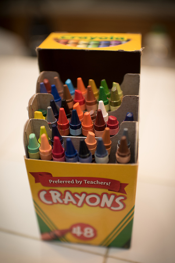 """I remember growing up as a little kid that having more than the standard rows of crayons was a big deal. Before computers, filling in coloring books was so satisfying. The first thing I did when we had Microsoft Paint in high school, I went to town with the """"color bucket"""" feature because it didn't cost me anything to fill in different polygons and drawings."""