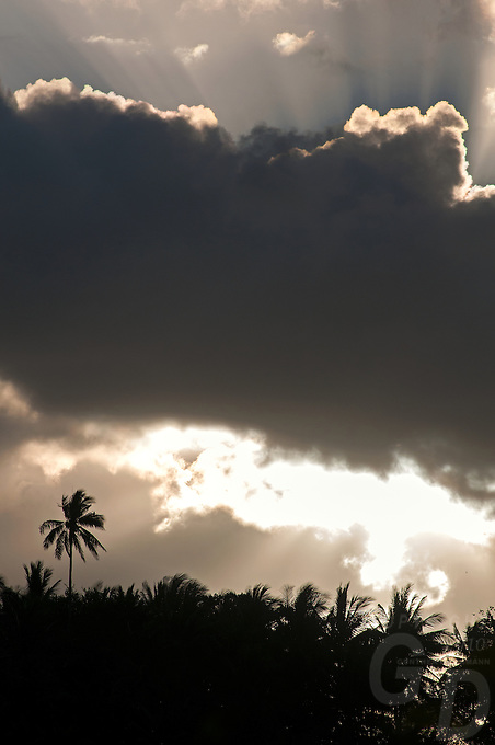 Tropical Weather clouds sunset and sundays over the Island