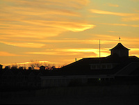 A winter Sunset at Narragansett Beach after a sixty degree day in January 2012.