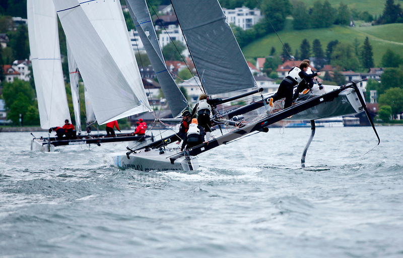 The GC32 is the one design for the future Great Cup Racing circuit, Austria Cup, Lake Traunsee, Gmunden, Austria. Day4.